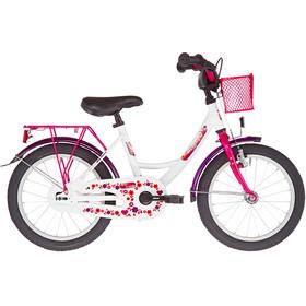 """Vermont Girly 16"""" Bambino, bianco/rosa"""